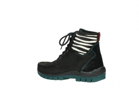 wolky lace up boots 04727 dive winter 50030 black green oiled leather_3