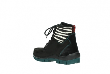 wolky lace up boots 04727 dive winter 50030 black green oiled leather_4