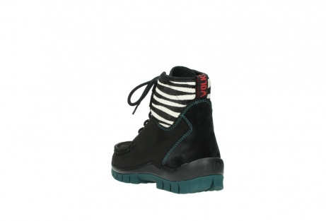 wolky lace up boots 04727 dive winter 50030 black green oiled leather_5