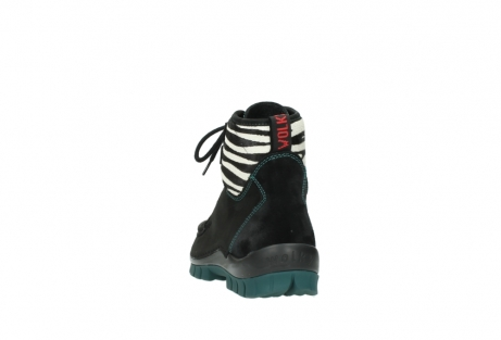 wolky lace up boots 04727 dive winter 50030 black green oiled leather_6