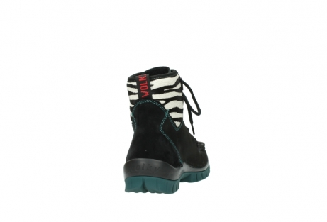 wolky lace up boots 04727 dive winter 50030 black green oiled leather_8