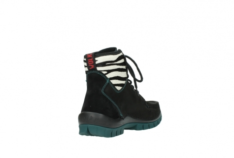 wolky lace up boots 04727 dive winter 50030 black green oiled leather_9