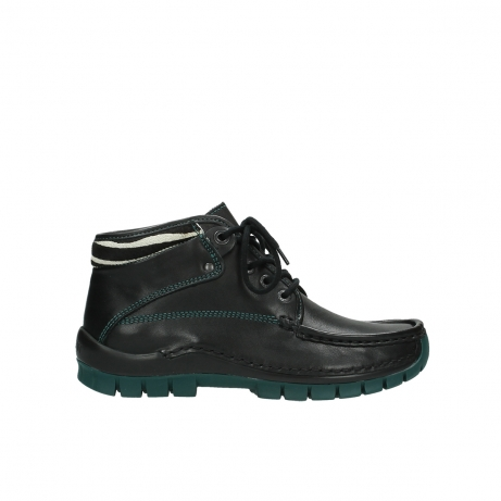 wolky veterboots 04728 cross winter 20030 zwart groen leer
