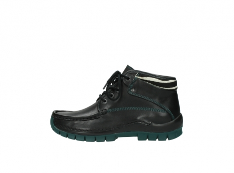 wolky veterboots 04728 cross winter 20030 zwart groen leer_1