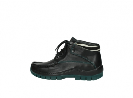 wolky veterboots 04728 cross winter 20030 zwart groen leer_2