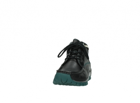 wolky veterboots 04728 cross winter 20030 zwart groen leer_20