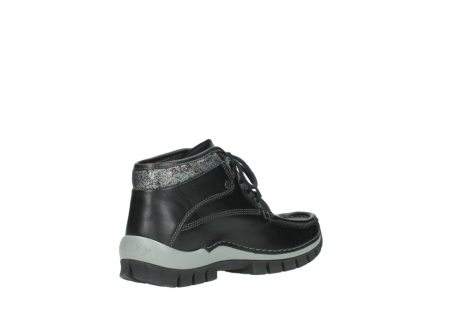 wolky lace up boots 04728 cross winter 20050 black metallic leather_10