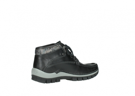wolky lace up boots 04728 cross winter 20050 black metallic leather_11