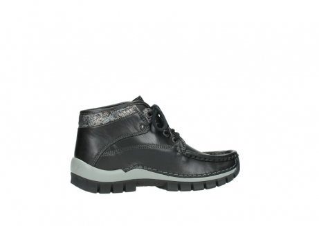 wolky lace up boots 04728 cross winter 20050 black metallic leather_12