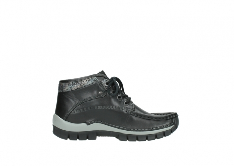 wolky lace up boots 04728 cross winter 20050 black metallic leather_13
