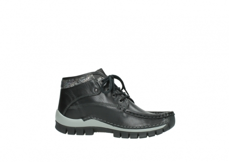 wolky lace up boots 04728 cross winter 20050 black metallic leather_14