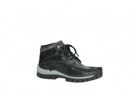wolky lace up boots 04728 cross winter 20050 black metallic leather_15