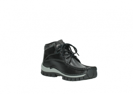 wolky lace up boots 04728 cross winter 20050 black metallic leather_16