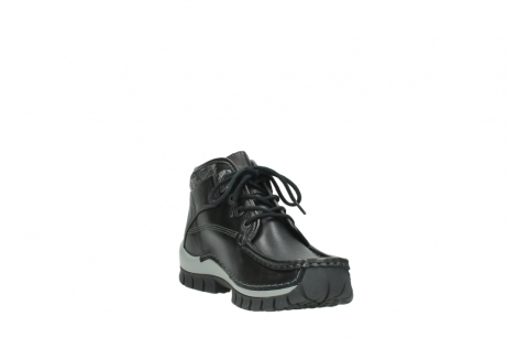 wolky lace up boots 04728 cross winter 20050 black metallic leather_17