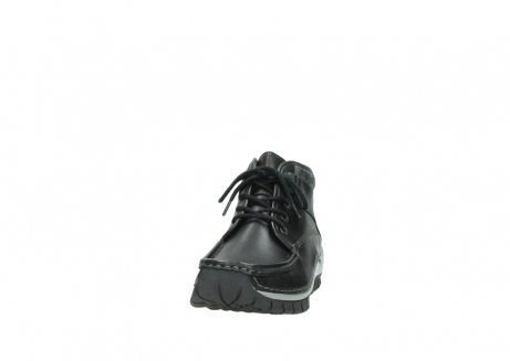 wolky lace up boots 04728 cross winter 20050 black metallic leather_20