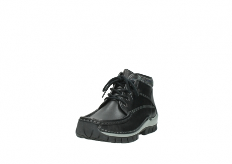 wolky lace up boots 04728 cross winter 20050 black metallic leather_21