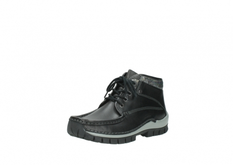 wolky lace up boots 04728 cross winter 20050 black metallic leather_22
