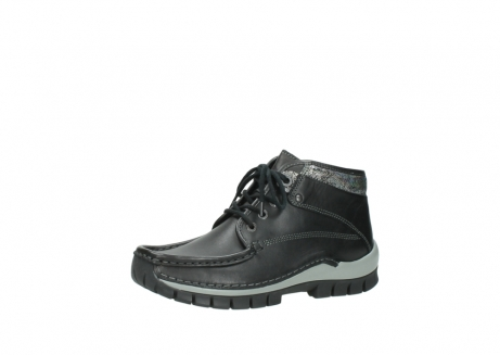 wolky lace up boots 04728 cross winter 20050 black metallic leather_23