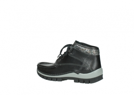 wolky lace up boots 04728 cross winter 20050 black metallic leather_3