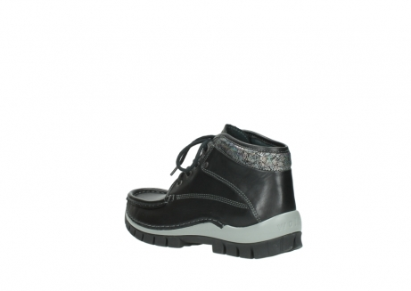 wolky lace up boots 04728 cross winter 20050 black metallic leather_4