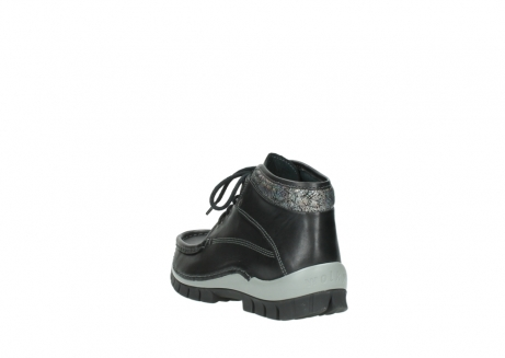 wolky lace up boots 04728 cross winter 20050 black metallic leather_5
