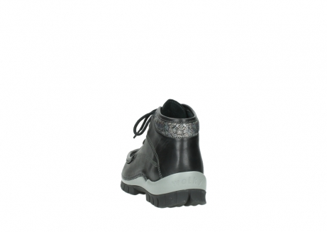 wolky lace up boots 04728 cross winter 20050 black metallic leather_6