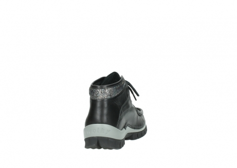 wolky lace up boots 04728 cross winter 20050 black metallic leather_8