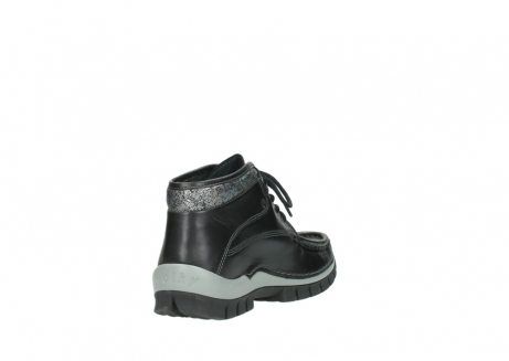 wolky lace up boots 04728 cross winter 20050 black metallic leather_9