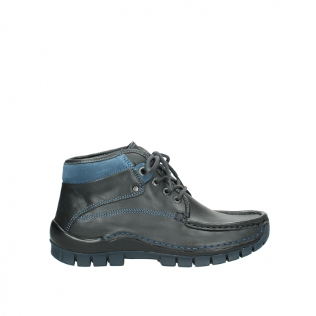 wolky lace up boots 04728 cross winter 20280 anthracite blue leather