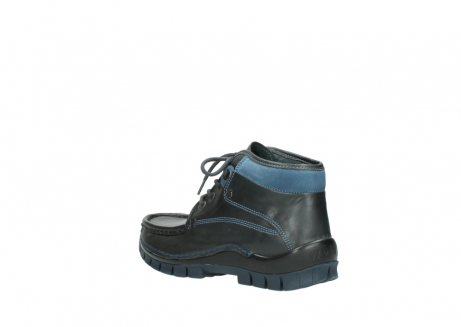 wolky lace up boots 04728 cross winter 20280 anthracite blue leather_4