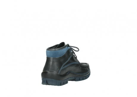 wolky lace up boots 04728 cross winter 20280 anthracite blue leather_9