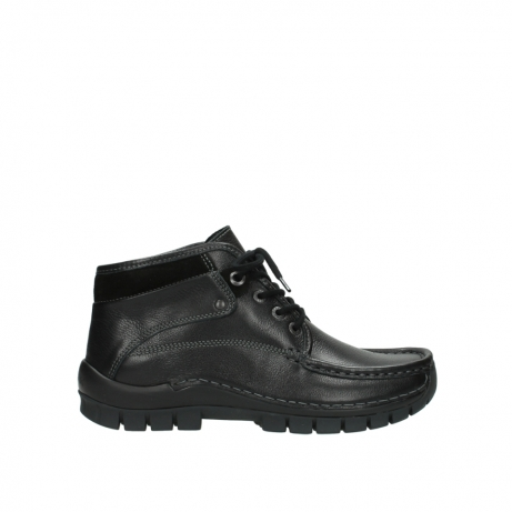 wolky lace up boots 04728 cross winter 30000 black leather