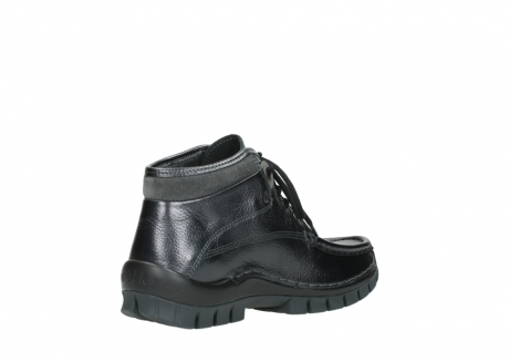 wolky lace up boots 04728 cross winter 81000 black metallic leather_10
