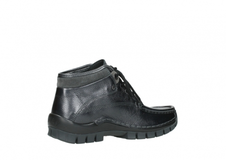 wolky lace up boots 04728 cross winter 81000 black metallic leather_11