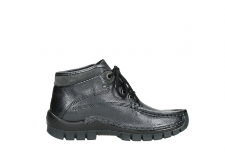 wolky lace up boots 04728 cross winter 81000 black metallic leather_13