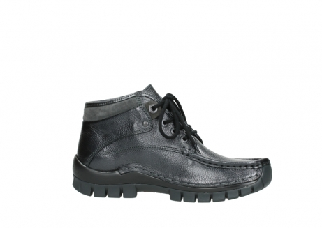 wolky lace up boots 04728 cross winter 81000 black metallic leather_14