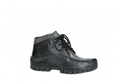 wolky lace up boots 04728 cross winter 81000 black metallic leather_15