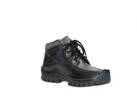 wolky lace up boots 04728 cross winter 81000 black metallic leather_16