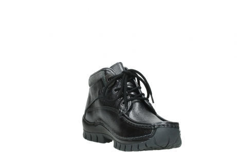 wolky lace up boots 04728 cross winter 81000 black metallic leather_17