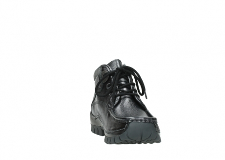 wolky lace up boots 04728 cross winter 81000 black metallic leather_18