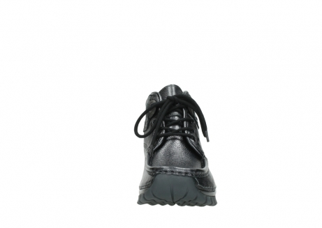 wolky lace up boots 04728 cross winter 81000 black metallic leather_19