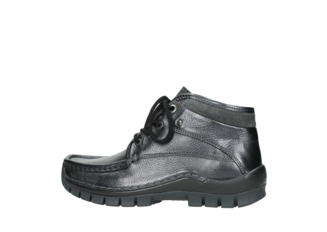 wolky lace up boots 04728 cross winter 81000 black metallic leather_2