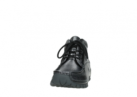 wolky lace up boots 04728 cross winter 81000 black metallic leather_20