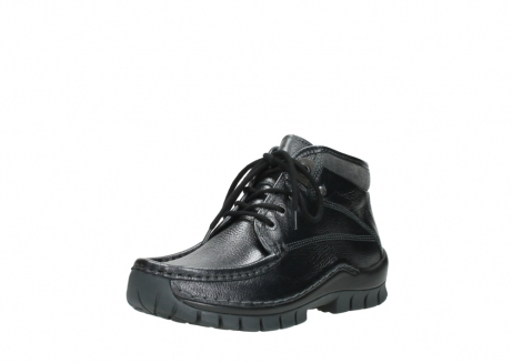 wolky lace up boots 04728 cross winter 81000 black metallic leather_22