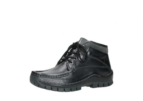 wolky lace up boots 04728 cross winter 81000 black metallic leather_23