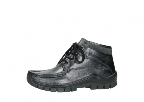 wolky lace up boots 04728 cross winter 81000 black metallic leather_24