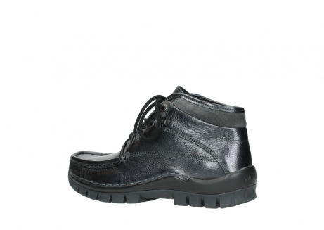 wolky lace up boots 04728 cross winter 81000 black metallic leather_3