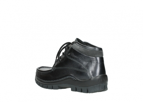 wolky lace up boots 04728 cross winter 81000 black metallic leather_4