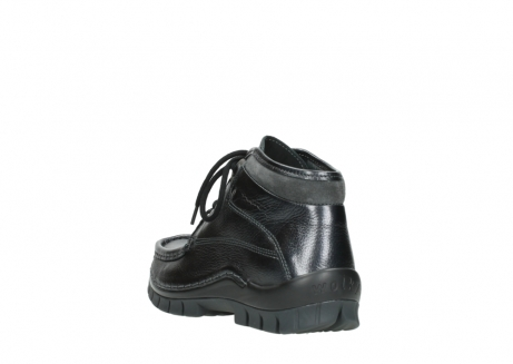 wolky lace up boots 04728 cross winter 81000 black metallic leather_5