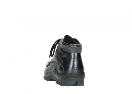 wolky lace up boots 04728 cross winter 81000 black metallic leather_6